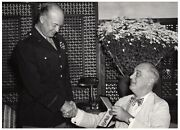 Photograph Of Pres Fdr Presenting Legion Of Merit Signed By Dwight D. Eisenhower