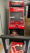 Sega 18 Wheeler Stand Up Arcade Driving Video Game Machine Works And Plays Great
