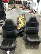 08-10 Ford F250sd Black Leather Seat Set Power Black Pass Rear Drv Leather