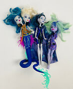Monster High Doll Lot Of 3 Mh Twyla Elle Boo Serpintine Peri Pearl Dolls Clothes