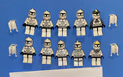 Lego Star Wars Minifigures Clone Wars Lot Of 10x Clone Troopers Army Builder