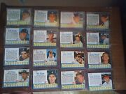 1962 Post Cereal Baseball Complete Set 200 Cards Overall Mid-high