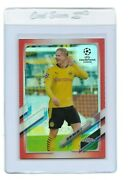 Erling Haaland Red Refractor /10 Jersey Number 09 Topps Chrome Champions League
