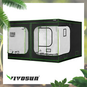 Vivosun120x120x80 Mylar Hydroponic Grow Tent For Indoor Plant Growing 10and039x10and039