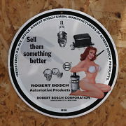 Vintage 1958 Robert Bosch Automotive Products Porcelain Gas And Oil Sign