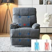 Large Power Lift Recliner Chair Couch Armchair 8 Points Massage And Heat F Elderly
