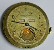 Vintage Jaeger Lecoultre Moonphase Watch Movement And Dial Parts Repair Project