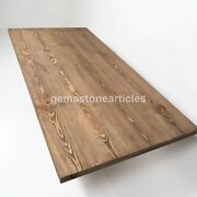 Real Acacia Wood Working Center Dining Table Handmade Traditional Furniture Déco