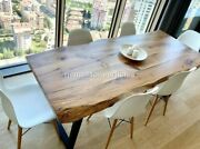 Industrial Coffee Table In Oak Wood Acacia Traditionally / Loft Coffee Table Top
