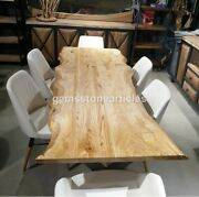 Live Edge Solid Wood Tabletop For Coffee Table And Dining Table / Oak Top Wood