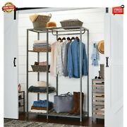 Better Homes And Gardens Farmhouse Grey Wood And Metal Garment Rack Free Shipping