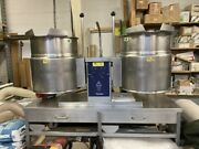Cleveland Tket-12-t Twin Drawer Base Twin Electric Jacketed Boiling Tilt Kettle