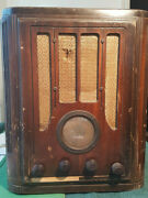1934 Rca Model 118 Tombstone Upright Table Radio For Parts Or Restoration