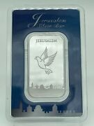 Israel Coins 2020 Jerusalem Dove Of Peace .999 1oz Pure Silver Bar In Assay