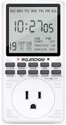 Outlet Timer Programmable Countdown Short Cycle Digital Electrical 3 Prong 7 Day