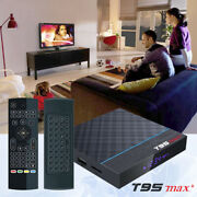 Android 9.0 T95 Max+ Plus 8k Hdr Bluetooth 64gb Tv Box+air Mouse Keyboard Remote
