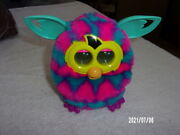 Furby 2012 Pink And Teal Hearts Yellow Eyes Purple Feet Teal Ears Works Great