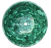 Bathroom Vessel Sink 15 Inch Round Above Counter Circle Green Agate Countertop