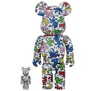 Be@rbrick Keith Haring 100 And 400 Lot Of 2 Medicom Toy Figure Japan Shipped