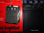 Realistic Mps-5 Mini Amplified Working Speaker System Vintage With Original Box