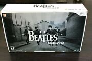 Wii The Beatles Rock Band Limited Edition Premium Bundle Drum Set Kit W/ Game