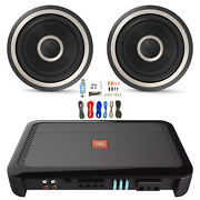 Jbl Club A1000 1000w Subwoofer Amplifier With 2x 8 1600w Peak Subs And Wiring Kit