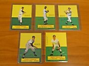 Lot Of 5 1964 Topps Baseball Stand Up Cards Ex