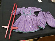 American Girl Addy Purple Stilting Outfit W/stilts Limited Edition 1997  8g6