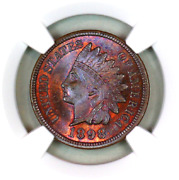 1898 Ms65 Rb Ngc Indian Head Penny Premium Quality Superb Eye-appeal