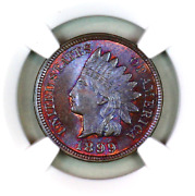 1899 Ms65 Bn Ngc Indian Head Penny Premium Quality Superb Eye-appeal