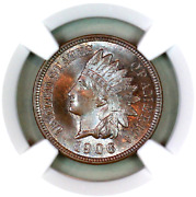 1906 Ms66 Bn Ngc Indian Head Penny Premium Quality Superb Eye-appeal