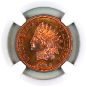 1894 Pf65 Rb Ngc Indian Head Penny Premium Quality Proof Example