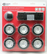 Commercial Electric 6-light Xenon Black Under Cabinet Puck Light Kit