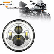 Auxbeam 7 Round Led Headlights Hi-lo Drl Angle Eyes Fit For Volkswagen Beetle
