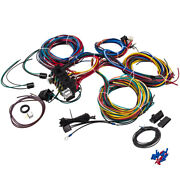 21 Circuit Wiring Harness 17 Fuses Extra Long Wires Color Coded For Radio