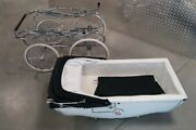 Silver Cross Navy White Carriage Single Seat Stroller Made In England