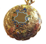 Enamel And Gold Antique Pocket Watch Case Elegant Lissauer And Co.