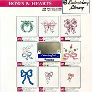 Bows And Hearts Embroidery Designs Card For Husqvarna Viking Sewing Machines