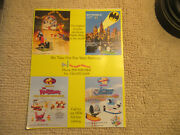 Odd Size 11- 8.5'' Tom And Jerry Batmobile The Jetsons  Arcade Game Flyer
