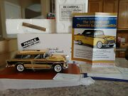 Danbury Mint 1955 Chevy Nomad 24kt Gold Diecast 124 Scale W/ Base And Title