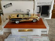 Danbury Mint 1955 Chevy Bel Air 24kt Gold Diecast 124 Scale W/ Base And Title