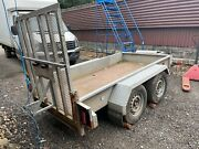 Indespension Ad2000 Twin Axle Plant Trailer With Bucket Holder And Ring Hitch