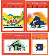 Alfred's Basic Piano Library Level 1a Books Set 4 Books - Lesson Book 1a