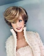 Lady Diana Princess Of Wales Porcelain Doll Franklin Mint New In Box Nice Vtg