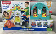 Fisher-price Little People Launch And Loop Raceway +2 Cars Kids Toy New