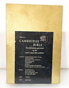 Cambridge Kjv Bible Cameo French Morocco Leather Antique 1960s India Paper L@@k