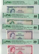 4 X Jamaica 1960 Nd 5 10 1 And 5 Pounds P 51be 51ad 51ce 52d Pmg 30 35 40