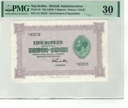 Seychelles / British Administration P 3c 1936 Nd 5 Rupees Pmg 30 Very Fine