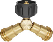 Propane Splitter Y Adapter Connector Valves Propane Tee Valve For Qcc1/type1