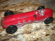 Vintage Auburn Rubber Red Open Wheel Indy Race Car Made In Usa 10 1/4
